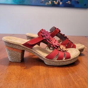 Rieker Slip On Womens Sandals Size 40 EU, 9 US